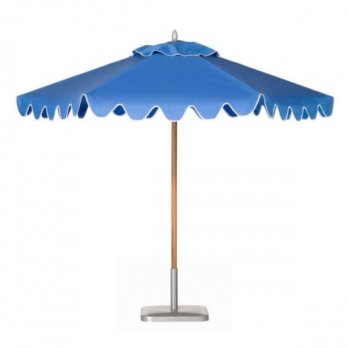 8ft Hexagon Teak Umbrella - Picture A