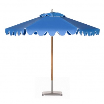 9ft Hexagonal Teak Umbrella