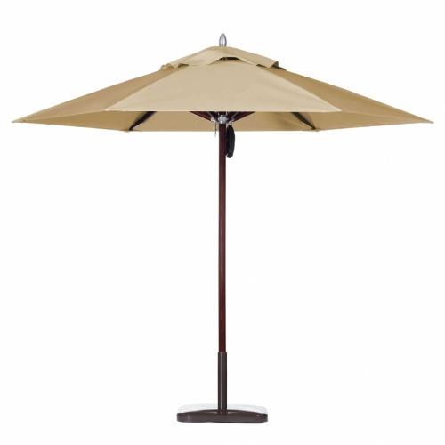 7ft Hexagon Mahogany Umbrella - Picture A