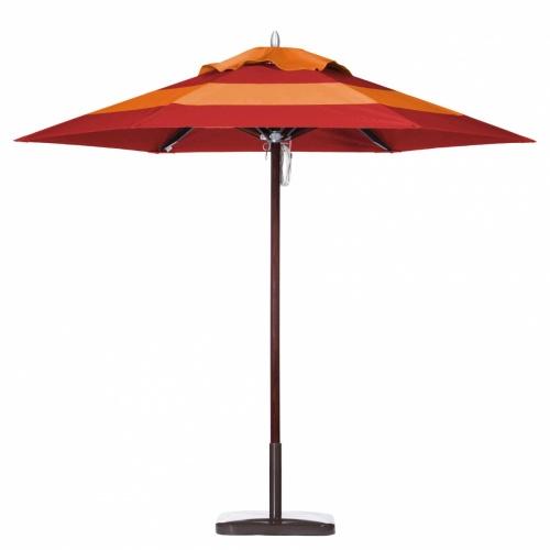 9ft Hexagon Mahogany Umbrella - Picture A