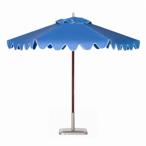 9ft Hexagon Mahogany Umbrella - Picture B