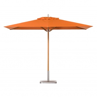 6.5 x 11.5 Rectangular Teak Umbrella