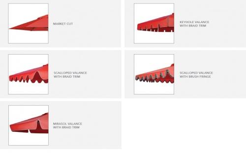 5 x 8 Rectangular Teak Umbrella - Picture C