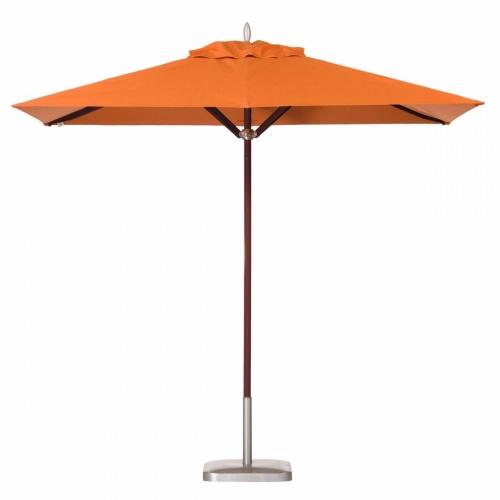 6 x 10 Rectangular Mahogany Umbrella - Picture A