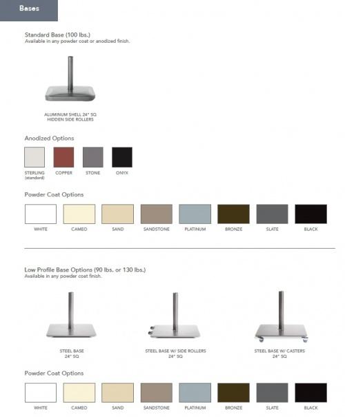 6 x 10 Rectangular Mahogany Umbrella - Picture L