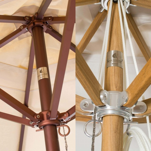 6ft Square Teak Umbrella - Picture E