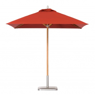 6ft Square Teak Umbrella