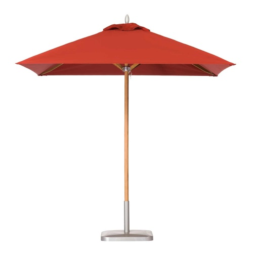 8ft Square Teak Umbrella - Picture A