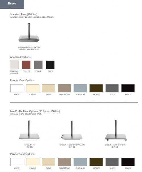 8ft Square Teak Umbrella - Picture L