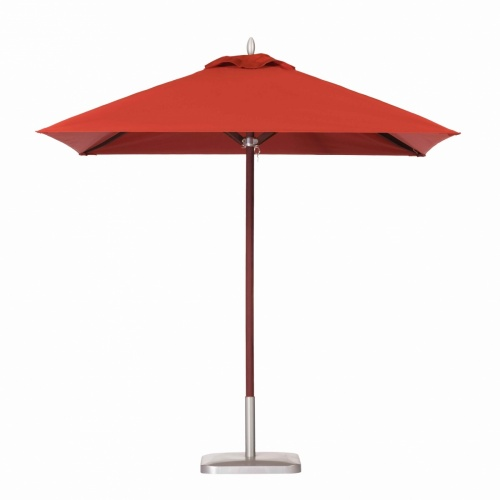 6ft Square Mahogany Umbrella - Picture A