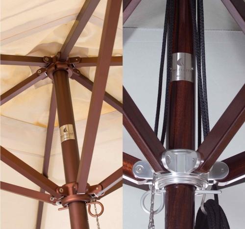 6ft Square Mahogany Umbrella - Picture D