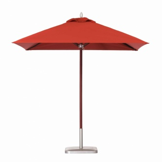 6ft Square Mahogany Umbrella