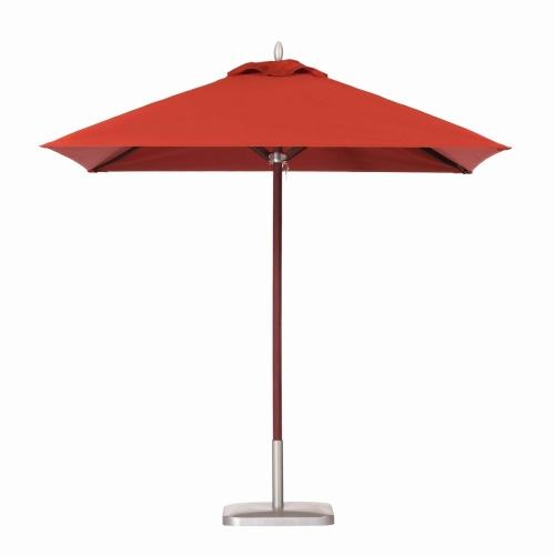 8ft Square Mahogany Umbrella - Picture A