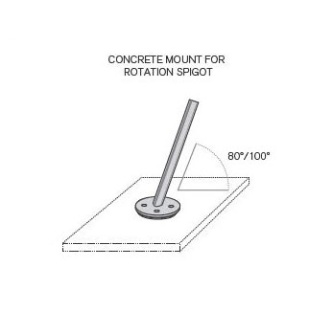 "Spectra Concrete Mount kit (for existing pad - 4"" mininum)"