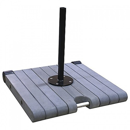 265lb Concrete Base with wheels and Lever for Spec - Picture A