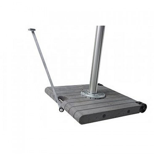 265lb Concrete Base with wheels and Lever for Spec - Picture C