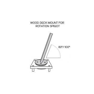 Wood Deck Mounting Kit - Picture A