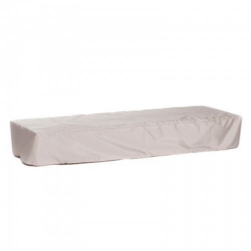 76L x 54W x 13H Double Chaise Cover Armless Small - Picture A