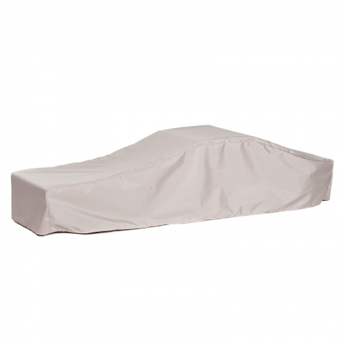 76L x 54W x 13H x 22A DblChaise Cover With Arms SM - Picture C