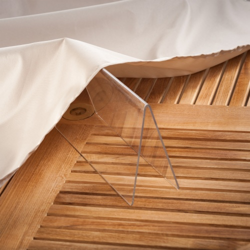 90L x 70W x 37H Martinique 7 pc Bench Set Cover - Picture G