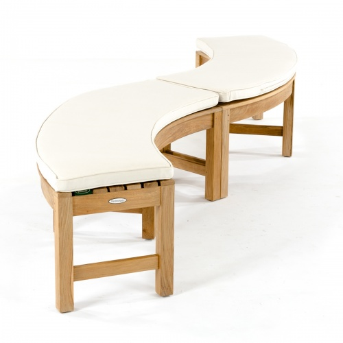 Brighton Curved Backless Bench Cushion - Picture A
