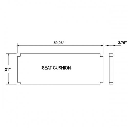 Sunbrella Bench Cushion - Picture B