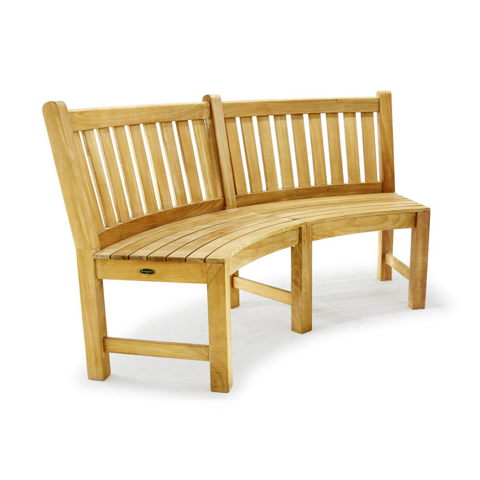 Buckingham Designer Teak Curved Bench Westminster Teak Outdoor Furniture
