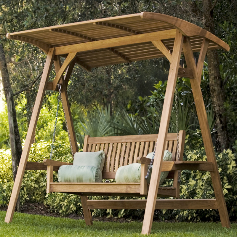 The Veranda Teak Swinging Bench