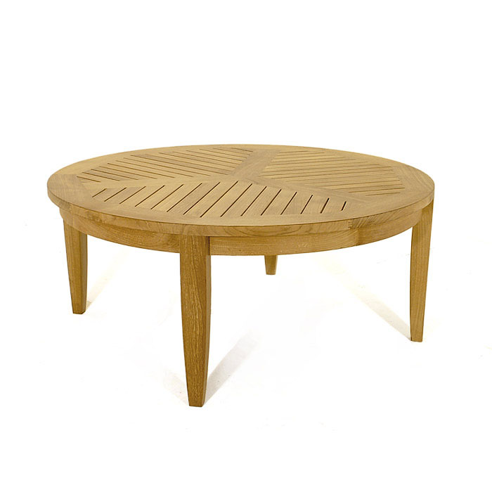 Low Round Teak Coffee Table: Laguna Coffee Table