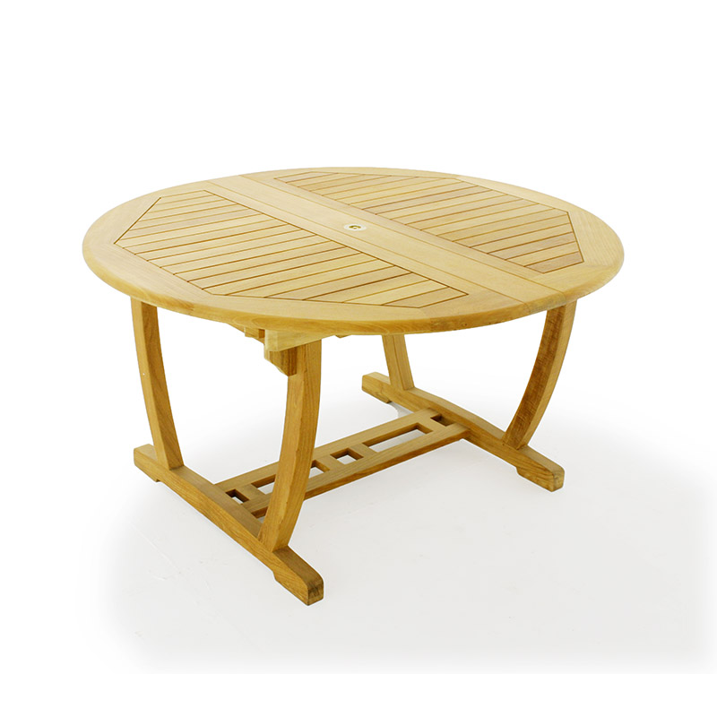 Martinique teak oval and round extendable patio di for Round teak outdoor table