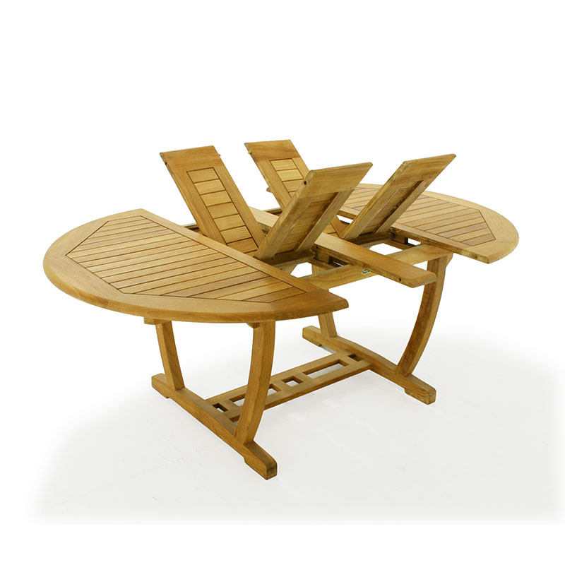 Gartentisch teak oval ausziehbar garten design ideen um - Tisch oval weiay ...