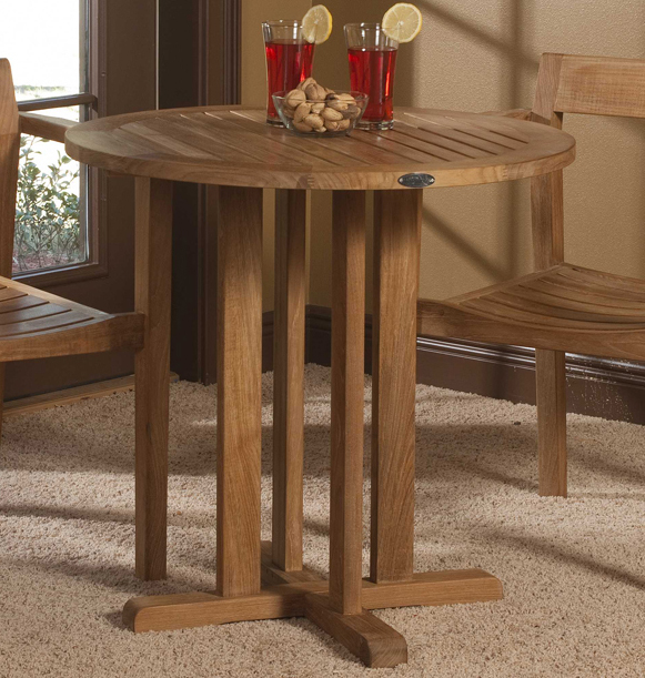 diameter teak bistro table