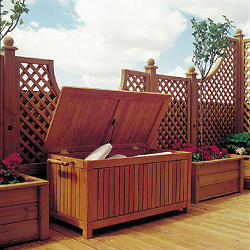 While We Built This Teak Storage Box For Your Limitless Outdoor ...