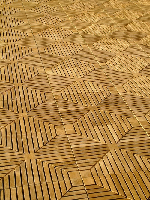 Diamond Teak Floor Tiles Westminster Teak