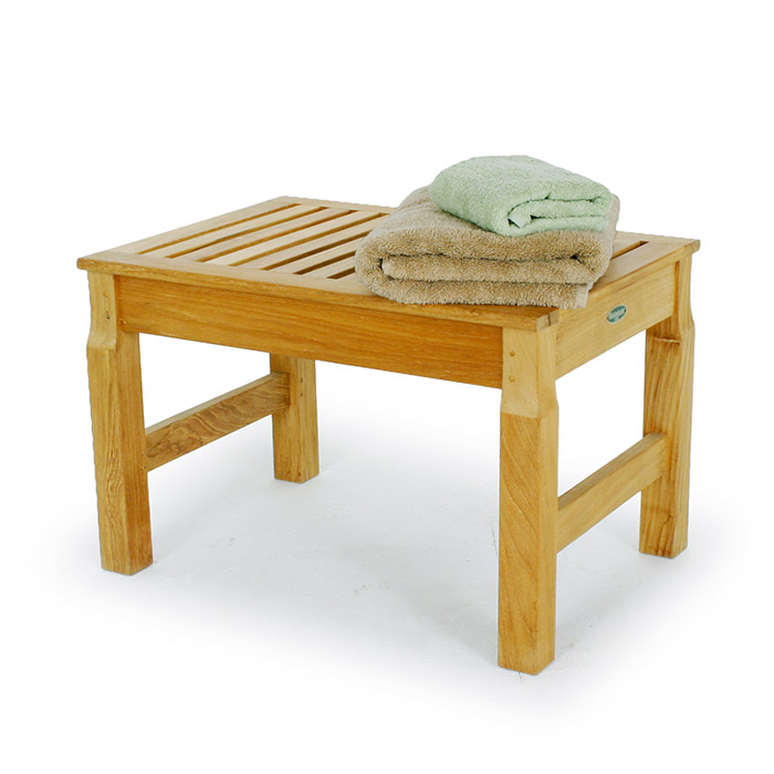 Westminster Teak Waterproof Shower Stool Seat - Westminster Teak ...