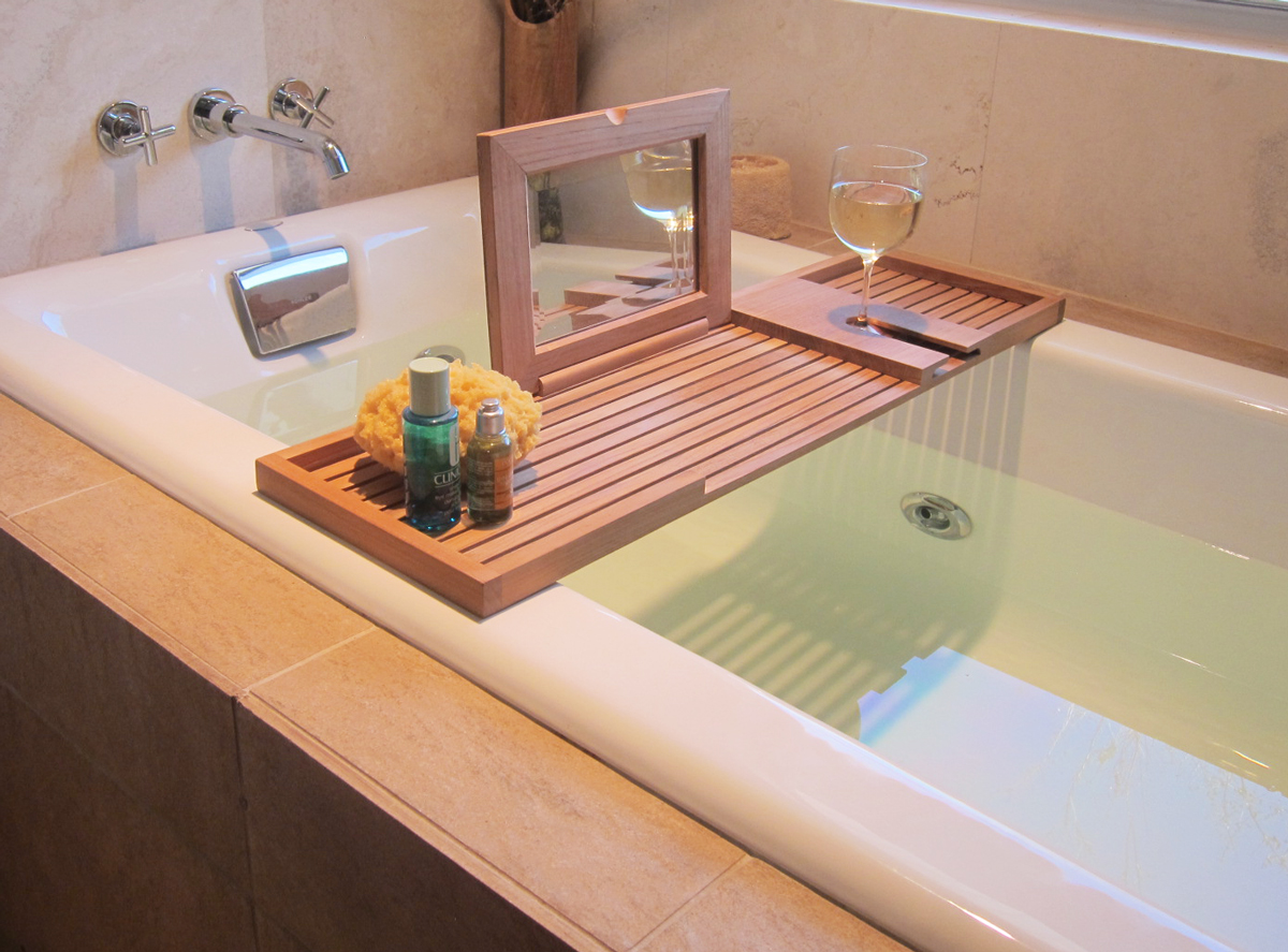 Teak Bathtub Tray & Bathtub Caddy - Westminster Teak Outdoor Furniture