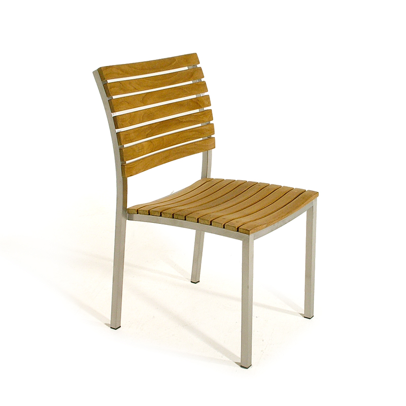 With The Interplay Of Stainless Steel And Teak Wood, The Vogue Side Dining  Chair ...