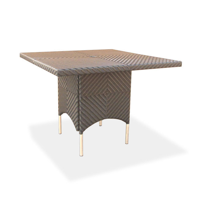 Woven All Weather Wicker Dining Table Westminster Teak
