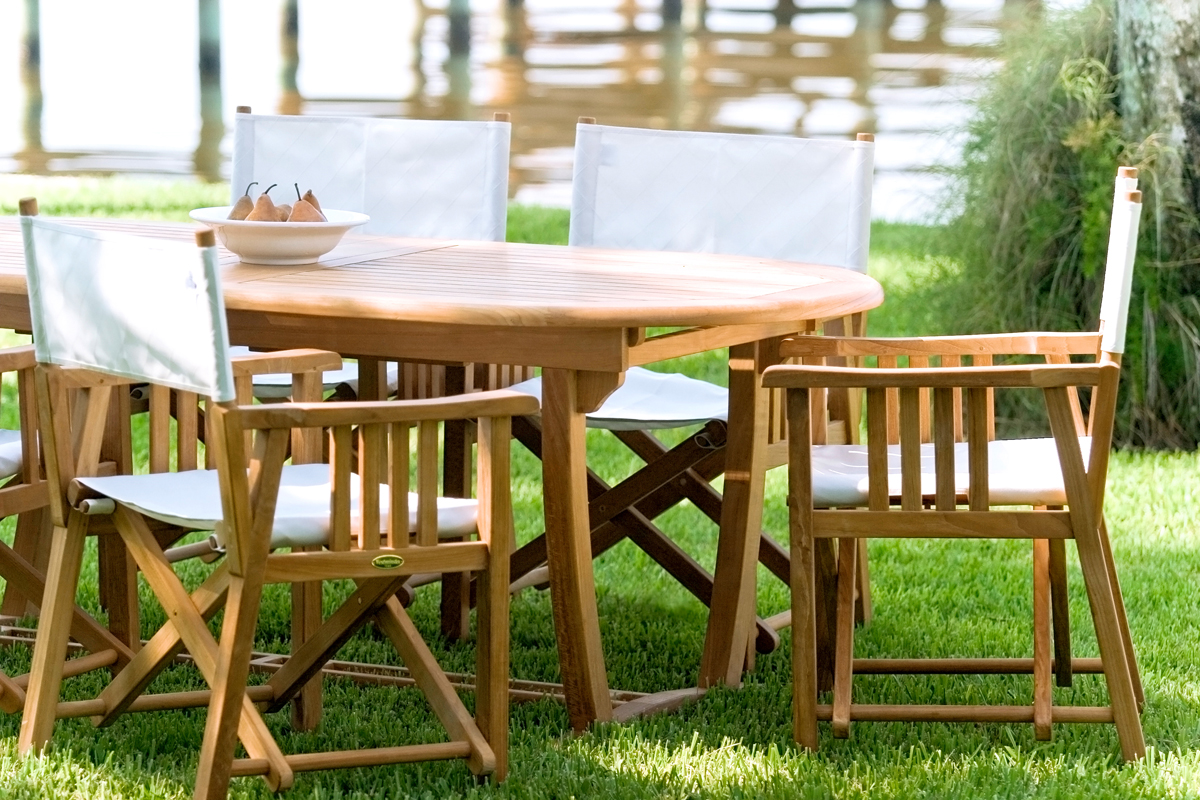 Barbuda Folding Teak Director Chair Westminster Teak Outdoor Furniture