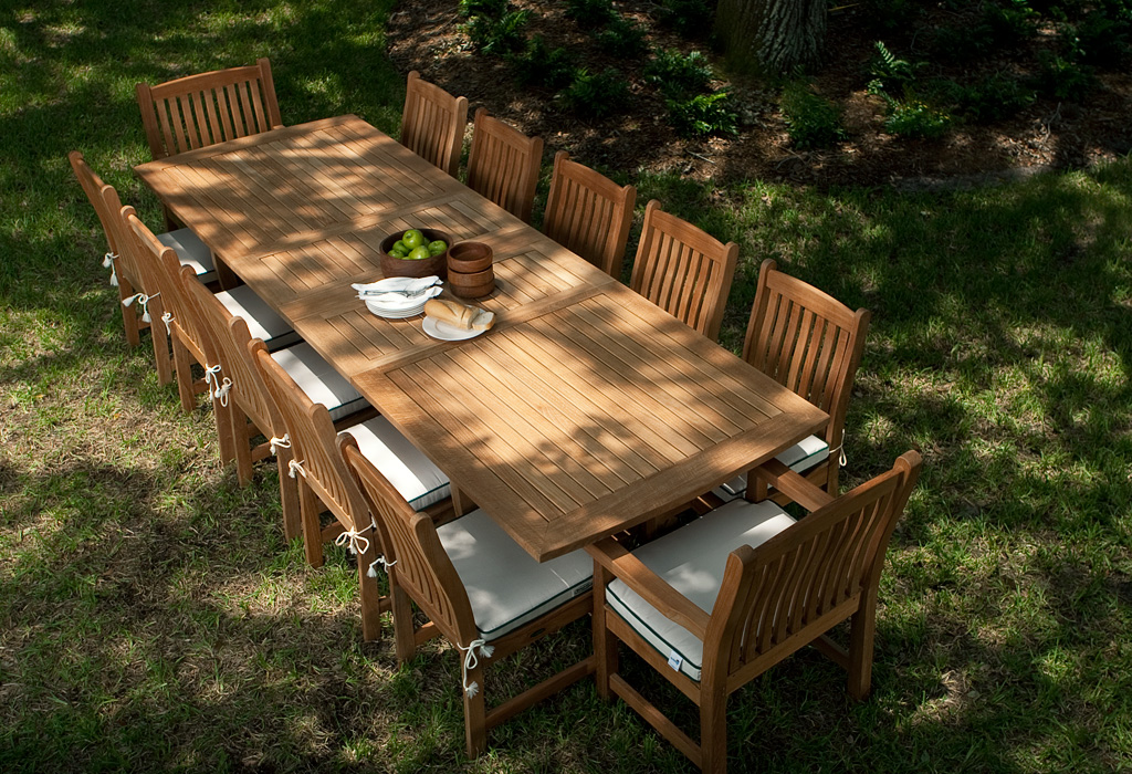Veranda 12 Person Dining Table Teak Furniture Set Westminster