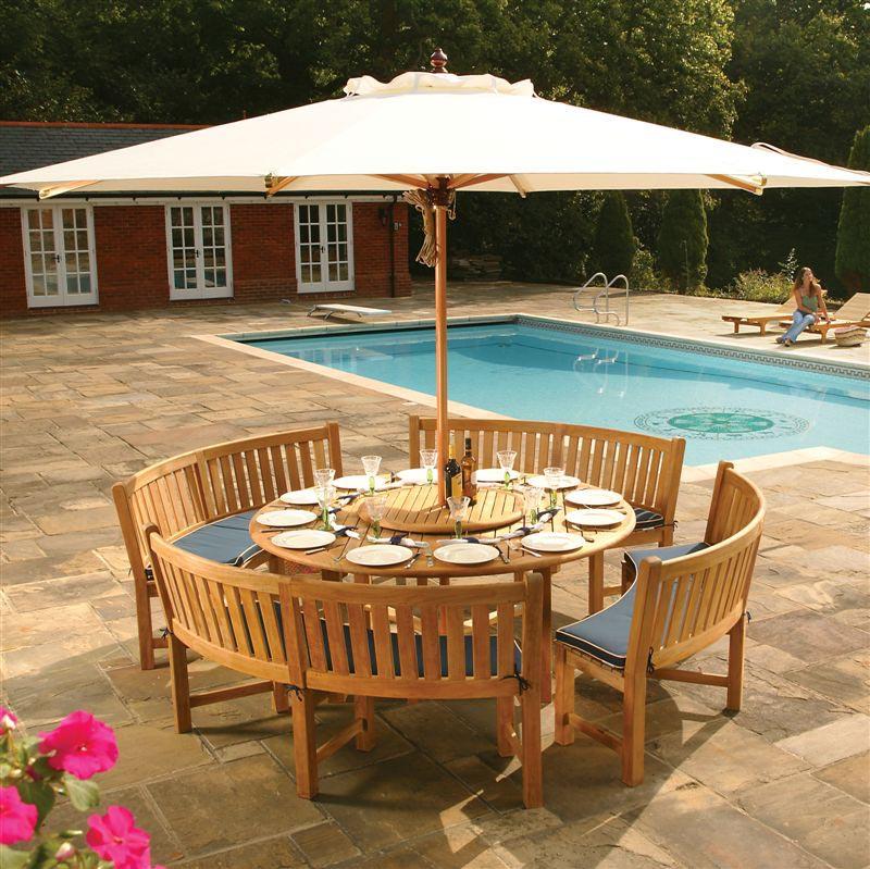 large round wood dining table 12 seats westminster teak outdoor furniture. Black Bedroom Furniture Sets. Home Design Ideas