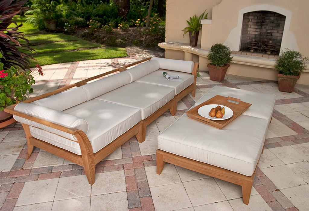 Exceptionnel The Aman Dais 3 Pc Teak Sofa Set ...