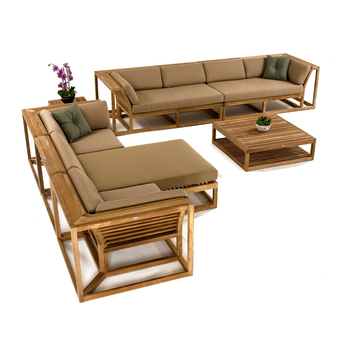 Maya Teak Sectional Sofa