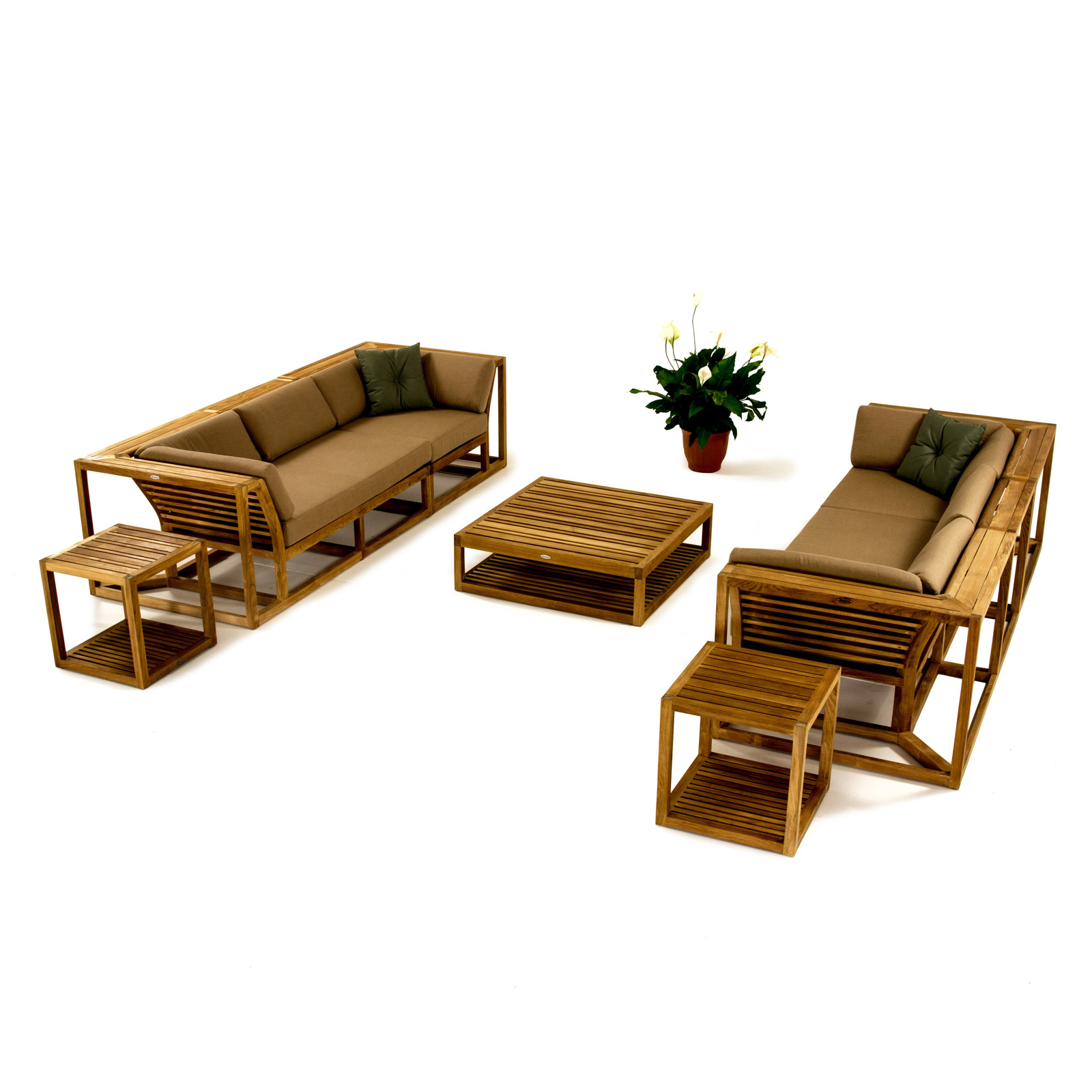 Maya Teak Double Sectional Sofa Westminster Teak Outdoor Furniture
