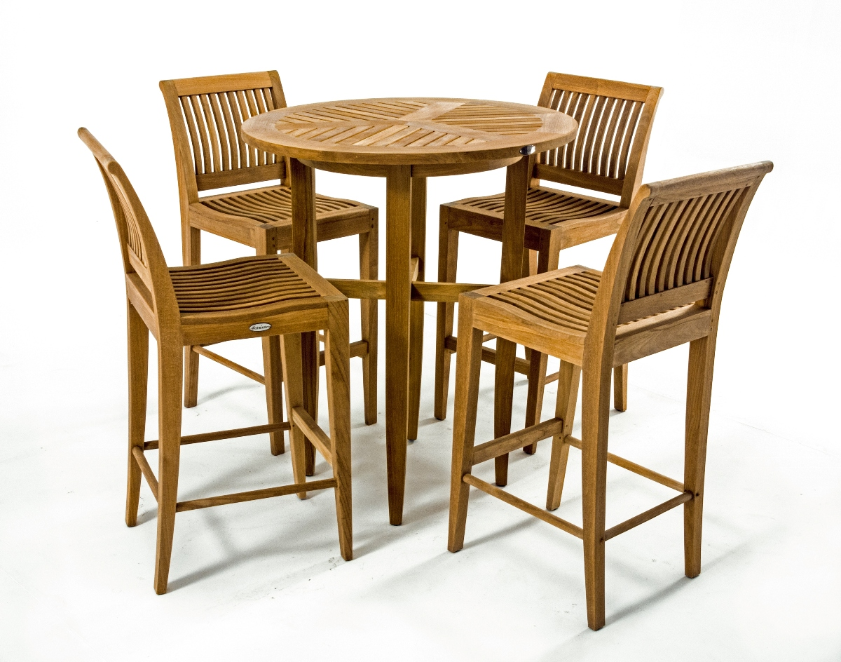 Laguna Teak Bar Stool And Table Set Westminster Teak Outdoor Furniture