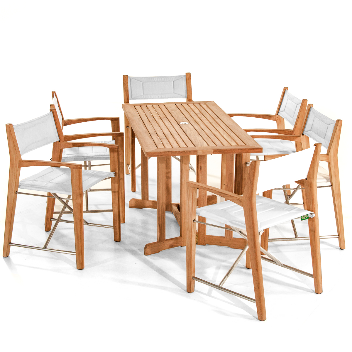 Odyssey 5pc Teak Folding Set Westminster Outdoor