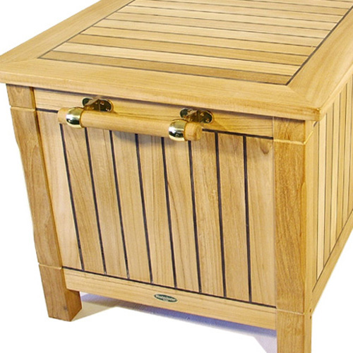 While we built this teak storage box for your limitless outdoor use it is certainly indoor-worthy as a window seat or toy box. Each side of the Somerset ... & Somerset Dock Storage Box - Westminster Teak Outdoor Furniture